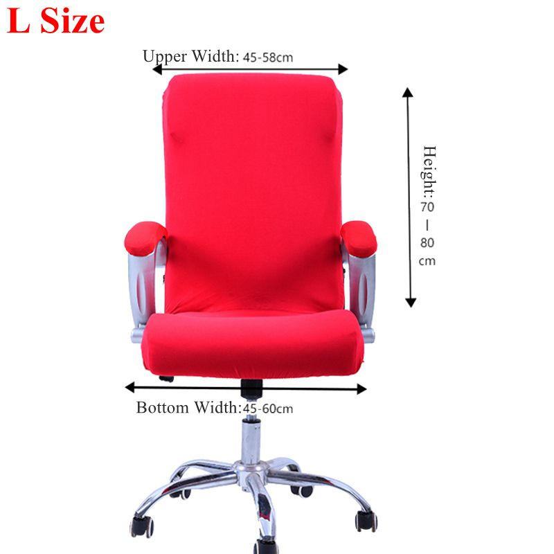 swivel chair covers kids wooden s m l spandex office slipcover armrest cover computer seat stool elastic antimacassar in from home