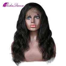 цена на Aisha Queen Body Wave Brazilian Lace Front Human Hair Wigs Pre Plucked Remy Hair Wigs With Baby Hair Bleached Knots