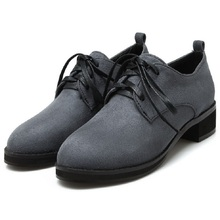 Fashion   Spring And Autumn Fashion Vintage Flock Canvas Women's Oxfords Lace Up Round Toe Women Flat Heel Casual Shoes Black