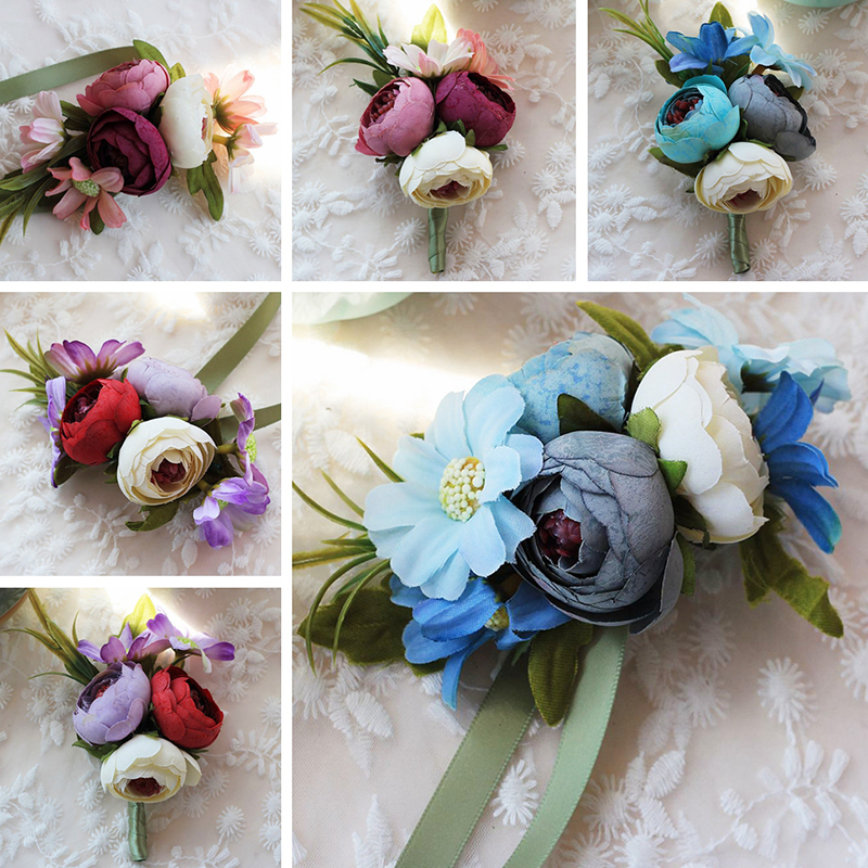 Medical & Mobility Other Mobility & Disability 2019 Latest Design 1pc Handcrafted Wrist Corsage Bracelet Artificial Silk Rose Flowers For Wedding Hand Flower Bouquet For Bride Event Supplies
