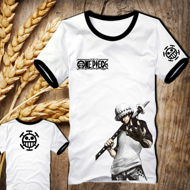 cf065db8a Super Cool ONE PIECE T-shirt Trafalgar Law Anime Tee Japanese Monkey D  Luffy Anime Law Customized Short Summer Cosplay Costumes