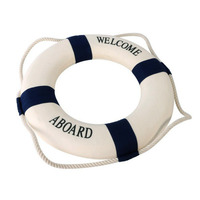 1PC Family Adornment Life Buoy Crafts Living Room Wedding Decoration Fashion Mediterranean Christmas Party Nautical Home