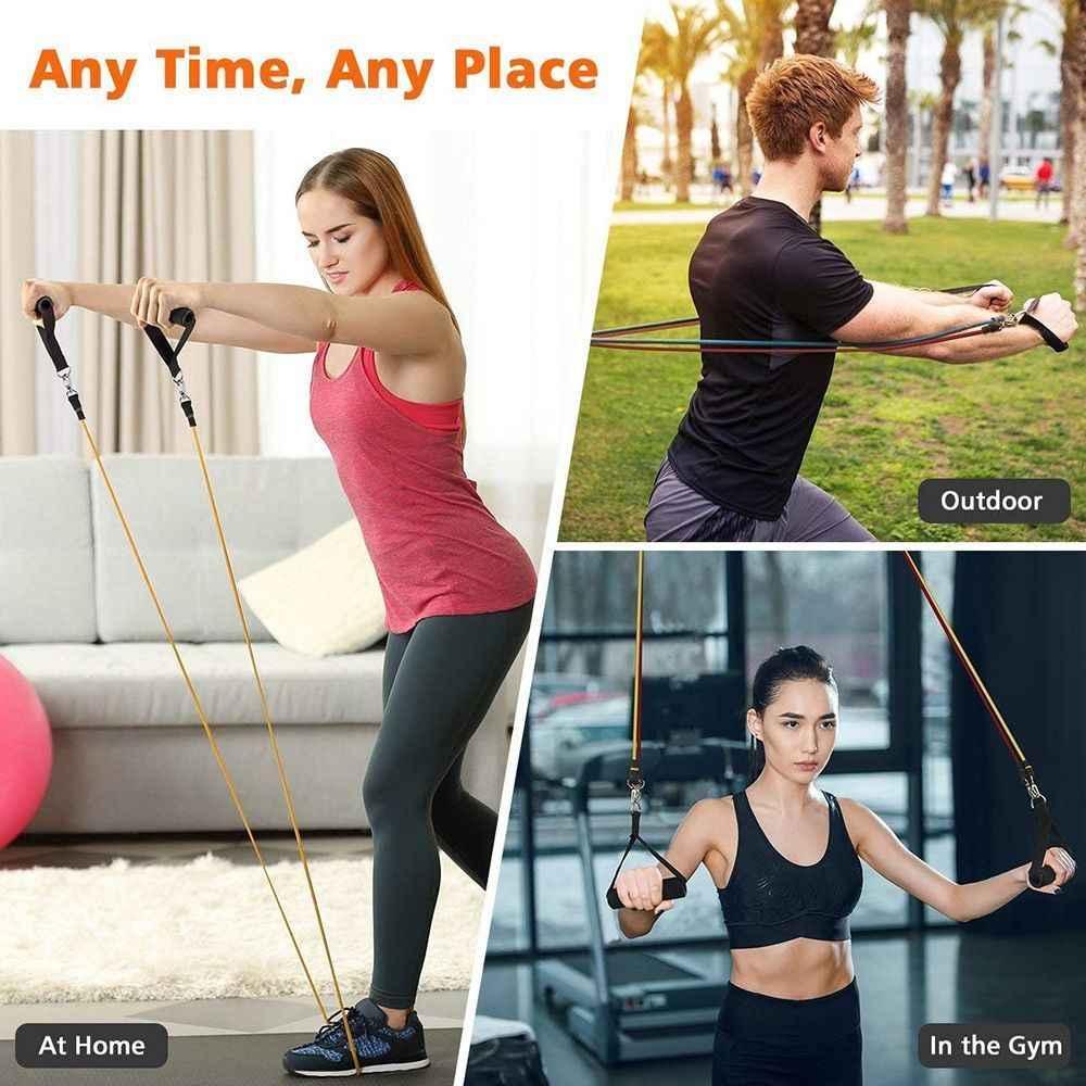 Elastyczna Fitness gumowa lateksowa pętla weerstandbanden joga taśmy oporowe trening siłowy zespoły Athletic gomas gimnasia
