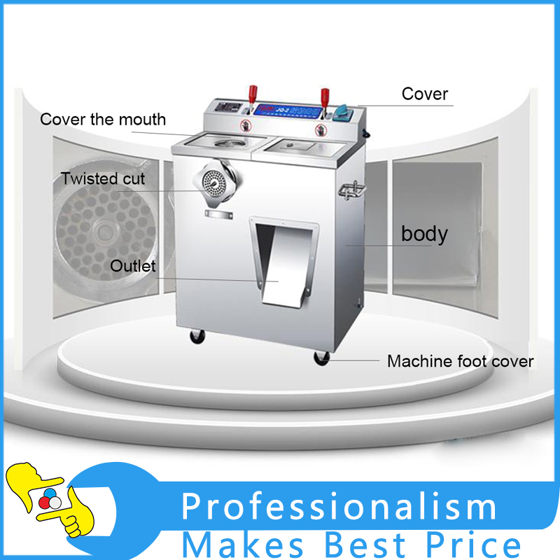 Multifunctional Meat Grinder Sliced Meat Shredded Sausage Maker Stainless Steel Commercial Electric Cutter Cutting Meat Machine stainless steel meat grinder 2 cutting plates electric moedor de carne 2 types sausage stuff makers kitchen appliance meat grind