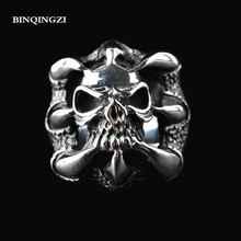 Vintage Gothic metal Dragon Claws Skull Ring Hollow strange groot hello kitty Skull badges Graduation chokers soul bague homme