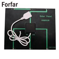 Portable Camping USB Solar Panel Battery Charger 6V 3 6W 500mA For Power Bank Supply LED