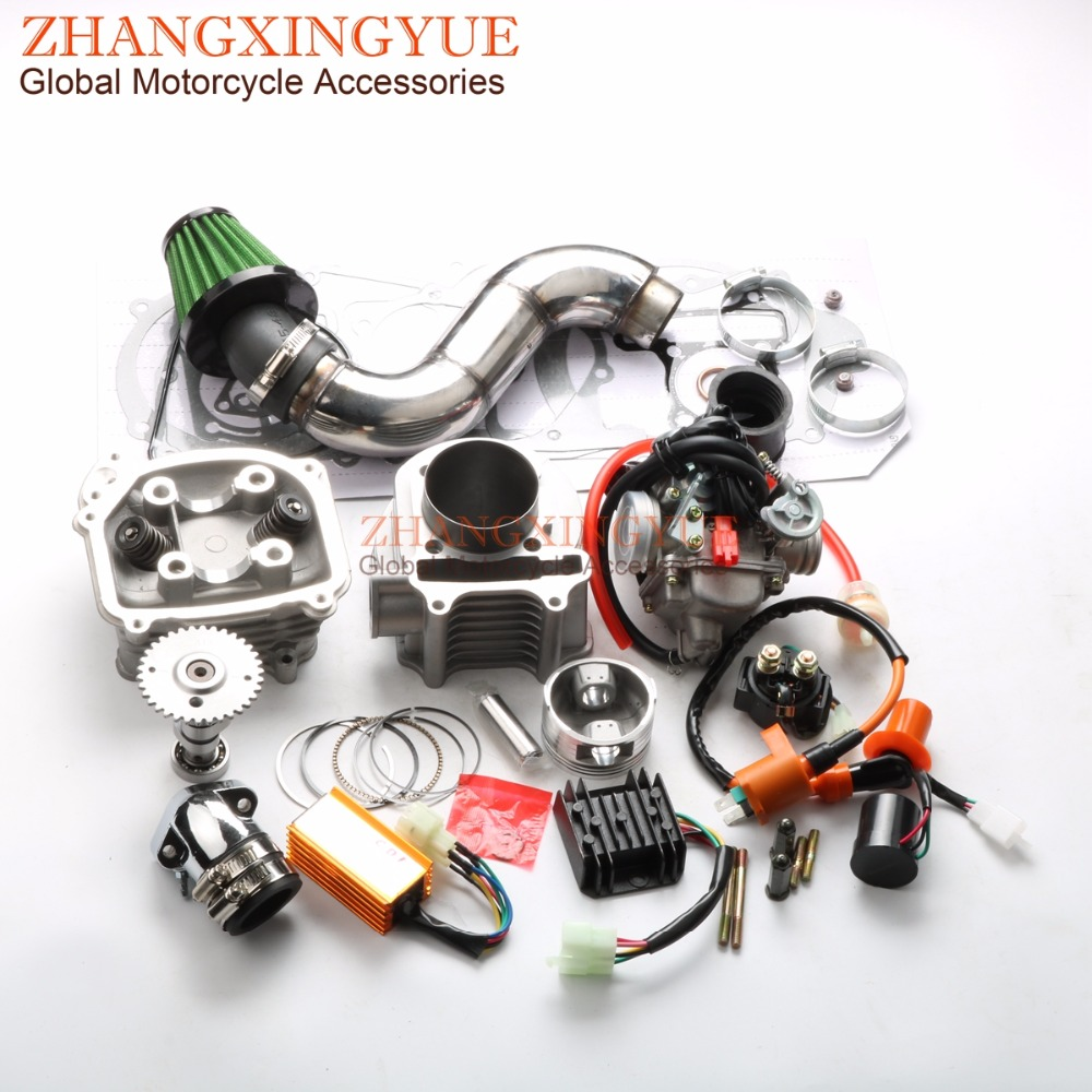 180cc EGR Big Bore Kit Performance CDI Racing Manifold Air Filter PD24J Carburetor for GY6 150cc 157QMJ 61mm Chinese Scooter 4T 6 pin performance cdi 50cc 150cc скутеры квадроциклы go картинг gy6 транспорт двигатель