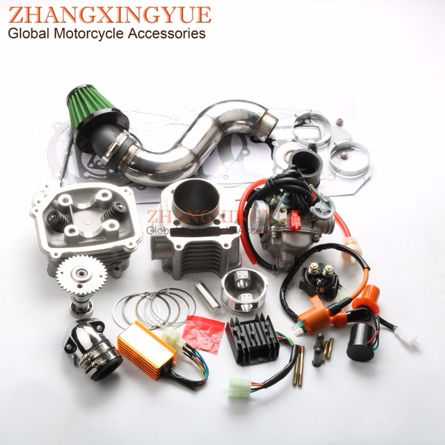 US $169 99 |180cc EGR Big Bore Kit Performance CDI Racing Manifold Air  Filter PD24J Carburetor for GY6 150cc 157QMJ 61mm Chinese Scooter 4T-in  Engine