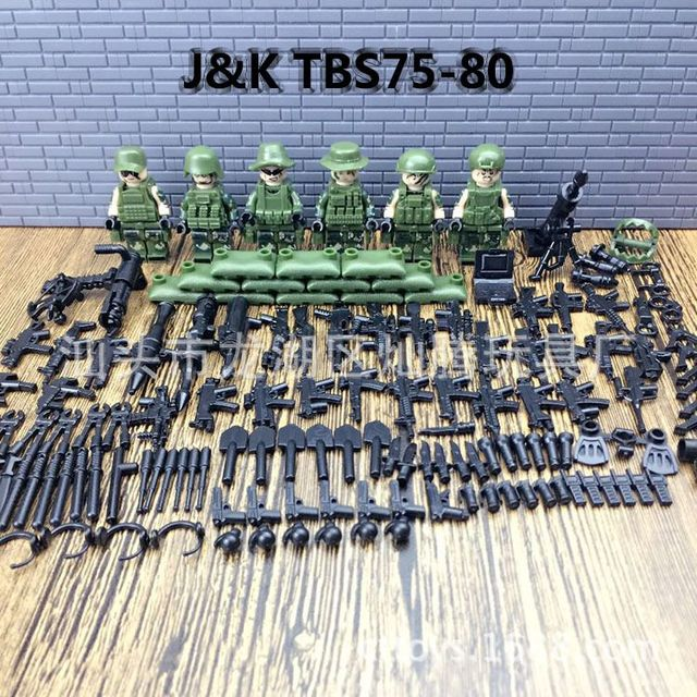 2017 New 6pcs Modern Military Armed Forces SWAT Jungle Maze Mini Sences Building Blocks Children Toys Gift Compatible With Legoe