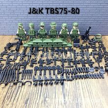 2018 New 6pcs Modern Military Armed Forces SWAT Jungle Maze Mini Sences Building Blocks Children Toys