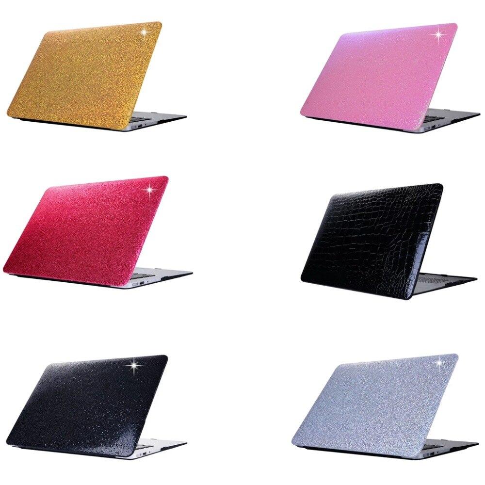 Nouvel étui pour ordinateur portable étincelant en or Local pour Apple MacBook Air Pro Retina 11 12 13 15 pour macbook NEW Pro 13 étui rigide de 15 pouces + cadeau