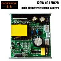 YC LED120 120 watt 7x12 watt RGBW Mini Led Moving Head Licht Power Liefern Eisen Fall 12 v/ 24 V/G Kabel Stecker Fan 12 v Ausgang Push Buchse-in Bühnen-Lichteffekt aus Licht & Beleuchtung bei