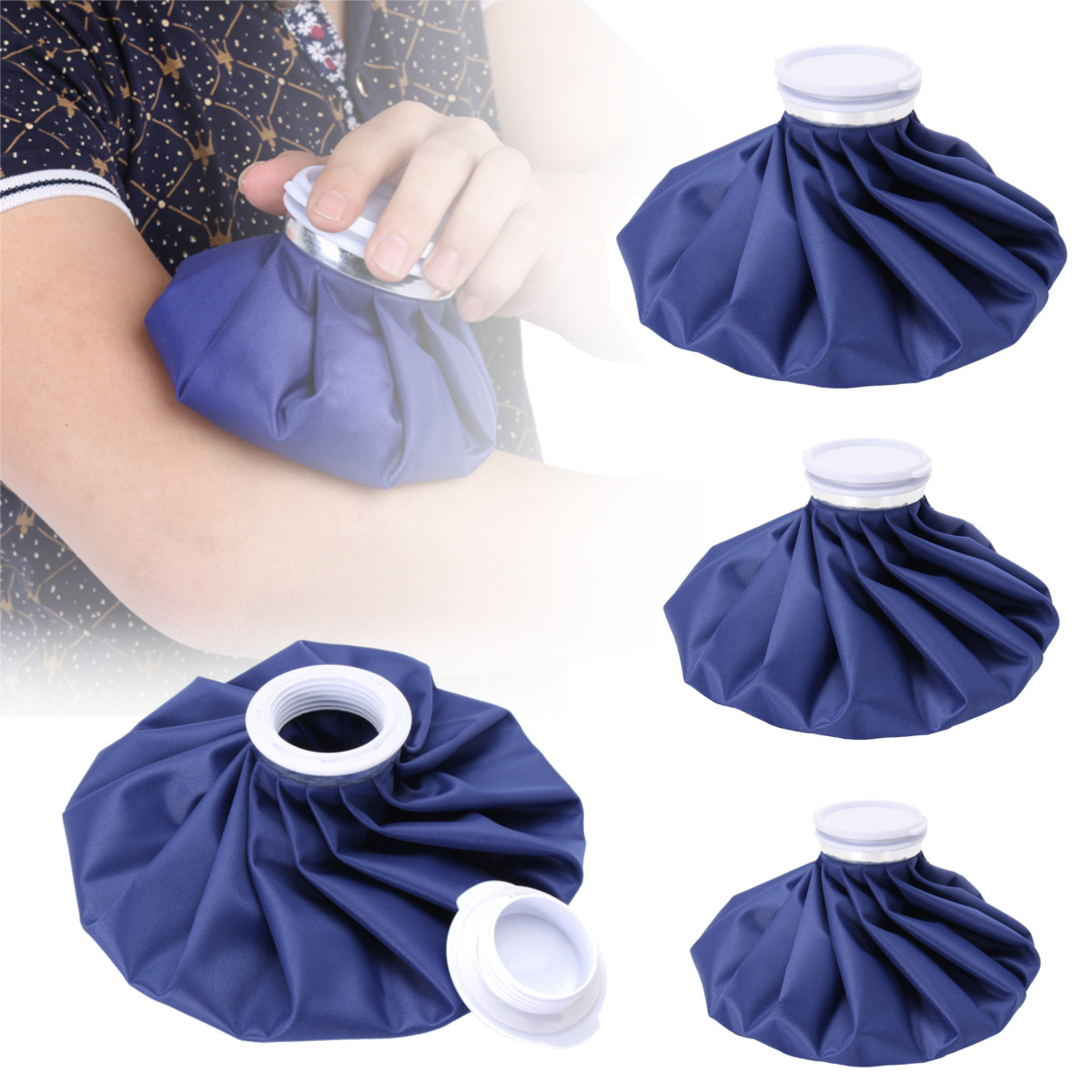 3 Size Sport Injury Ice Bag Cap Reusable Health Care Cold Therapy Pack Cool Pack Muscle Aches First Aid Relief Pain Massage Tool