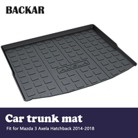 Backa 1 set 카고 리어 트렁크 매트 자동차 스타일링 부츠 라이너 트레이 매트 for mazda 3 axela hatchback 2014 2015 2016 2017 2018 액세서리