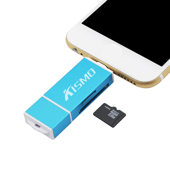 Kismo Micro SD TF Card OTG USB Memory Card Reader Adapter for iPhone X 8 7 6 Plus 5S iPad Air A3 A5 A7 2016 S6 S7 Edge Android