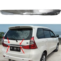 High quality ABS Chrome plated Rear Trunk Lid Cover Trim For Toyota Daihatsu Xenia Avanza 2016 Car styling