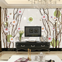 Custom Photo Mural Wallpapers 3D Stereo Rose Vine TV Background Living Room Mural House Decorative Paintings