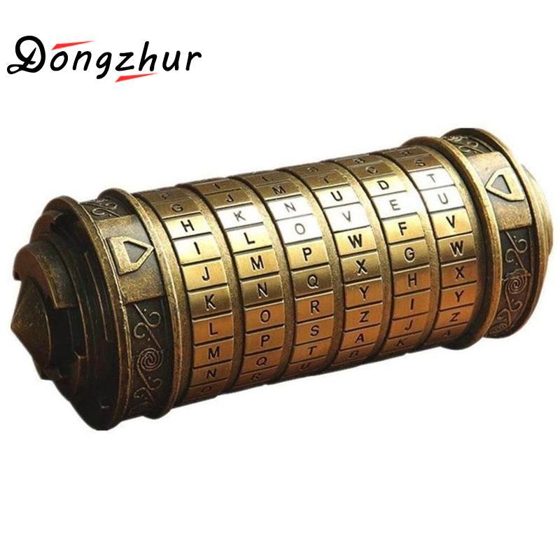 Da Vinci Code Alphabet Lock Creative Retro Figure Lock Box Cylinder Lock Valentine Gift Letter Password