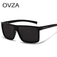 OVZA, мужские солнцезащитные очки, поляризационные, плоский верх, солнцезащитные очки,, фирменный дизайн, для вождения, солнцезащитные очки, мужские, высокое качество, прямоугольные, стиль