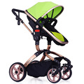 New arrives high landscape baby stroller super version shockproof wheel aluminum frame baby trolley folding easy