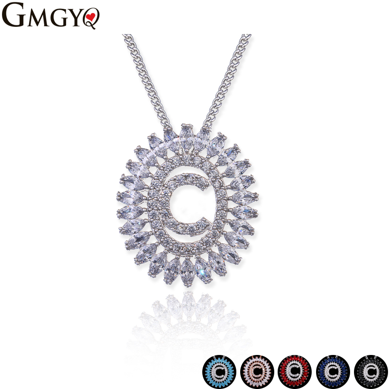 GMGYQ Hot Sale Initial Capital Letter C Necklace For Women Silver Gold Color Alphabet Pendant Chain Name Jewelry Gift For Her все цены