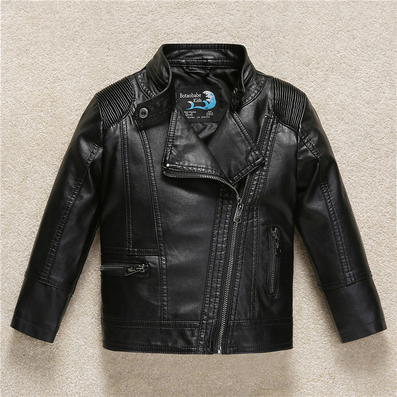 Budermmy 2017 Autumn Winter Brand leather Jackets For Girls Children Outerwear Kids Clothes Motorcycle Jacket 3-11Y Boys Coats стоимость