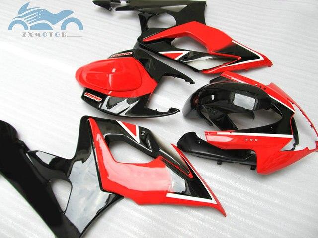 Custom Fairing kits for Suzuki GSXR 1000 2005 2006 GSXR1000 K5 K6 road racing fairings kit 05 06 GSX R1000 red black aftermarket 1