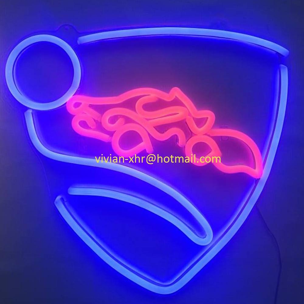 Grand Jeu Personnalisé Néon Lumière Rocket League Logo LED Exhibidor Afiche Acrilico Chambre Décoration Murale Néon Lumière Signe Bière de Club de barre - 4