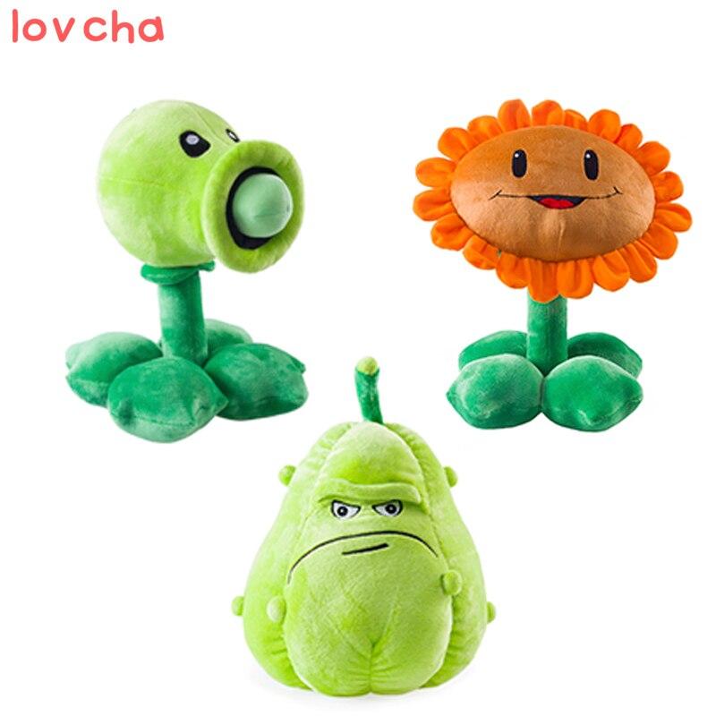 1 PCS 30cm Kawaii Plants vs Zombies Plush Toys Pea Shooter