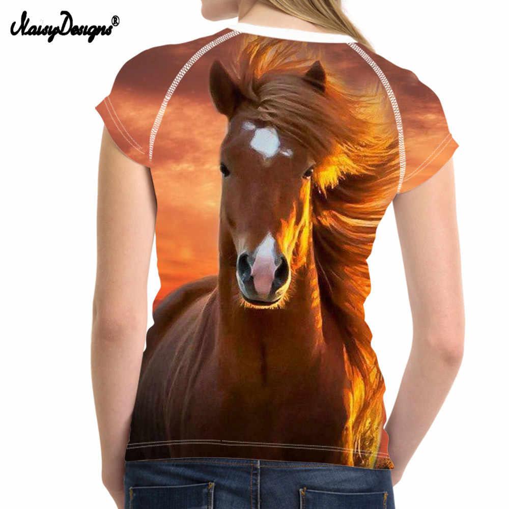 NoisyDesigns Mode Frauen Sommer Grundlegende T-shirt Cool 3D Tiger Lion tier Frau Tees Shirts Für Jugendlich Mädchen Frauen Freizeithemd Top
