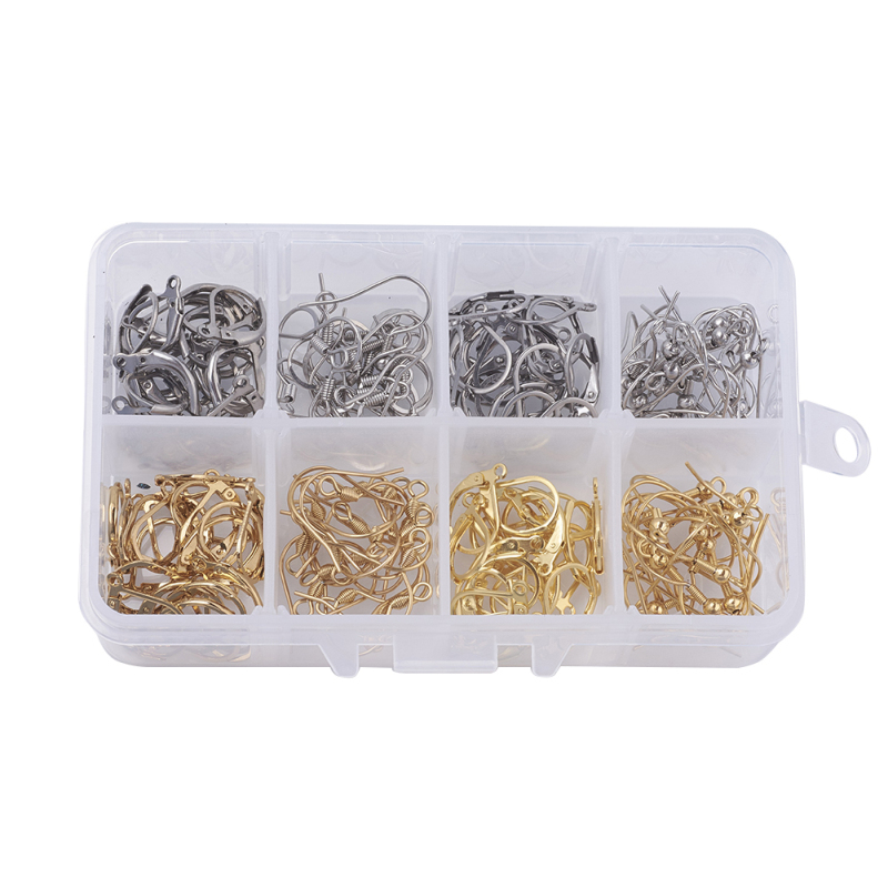 304 Stainless Steel Earring Findings Earring Clasps Hooks for DIY Jewelry Making Accessories Hook Earwire Jewelry,Mixed Color F7