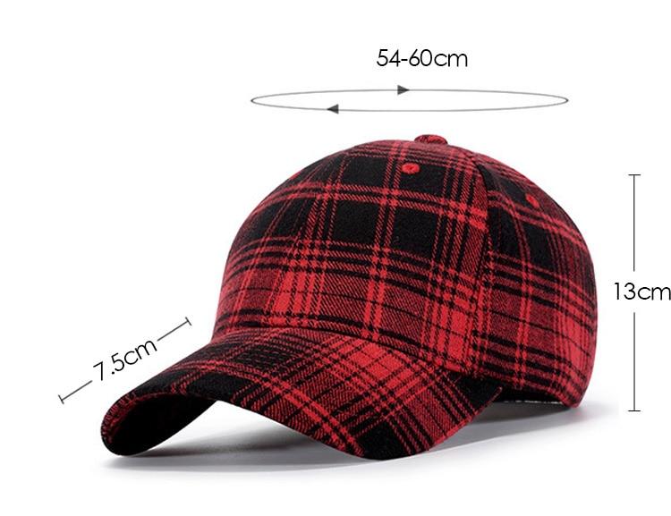bb3137092519 [AETRENDS] 2018 gorra de béisbol de Otoño Invierno para hombres y mujeres,  gorra de algodón a cuadros, gorra de 6 paneles, sombreros deportivos de ...