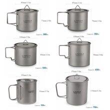 Folding Spork Travel Tableware Spoon Mug Water-Cup Outdoor Cookware Lixada Titanium Dinner