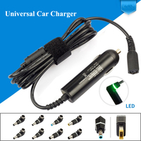Ultra Slim DC Universal Car Laptop Charger 90W 10 Detachable Plugs For Lenovo Thinkpad Hp envy Toshiba Traveling Laptop Adapters