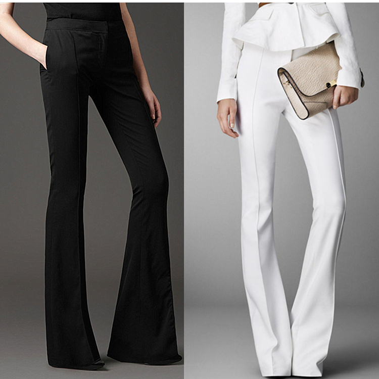 Longer Size Can fit 160cm -200cm height flare pants 2018 new Fashion brand England style slim was thin high waist trousers WQ03