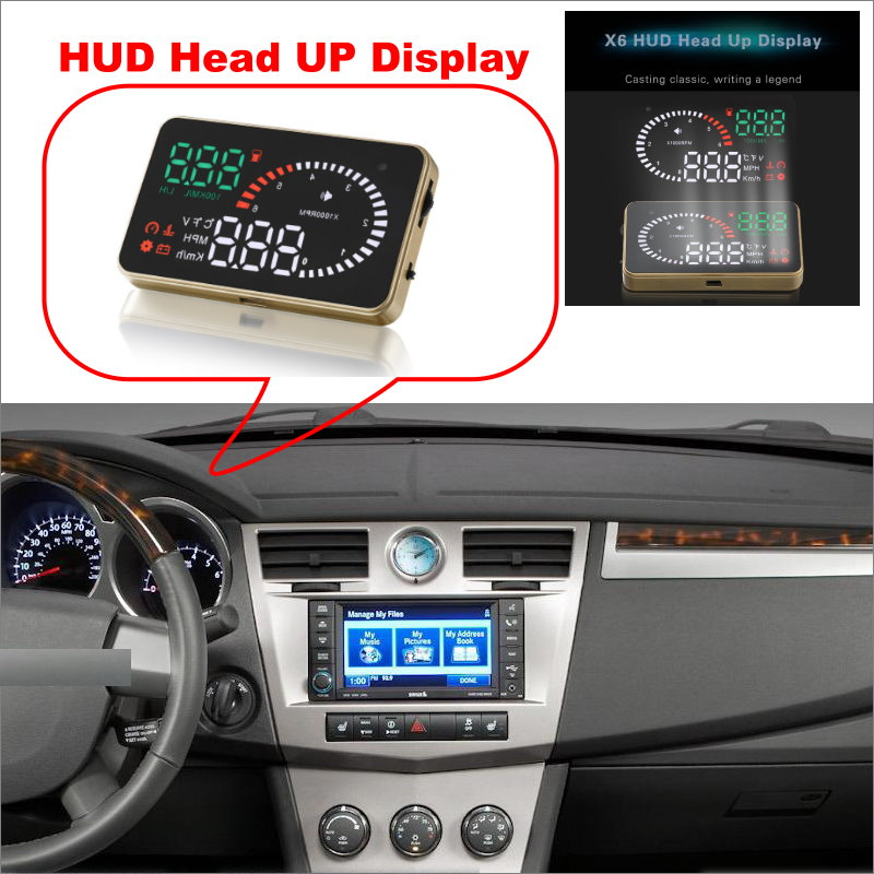 Car HUD Head Up Display For Chrysler 300  Sebring Pacifica PT Cruiser Voyage - Safe Driving Screen Projector  / OBD II Connector chrysler pt cruiser 2 0 i 16v