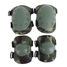 Tactical Military 2* Elbow Brace + 2* Knee Protective Pads Paintball Skate Airsoft Combat