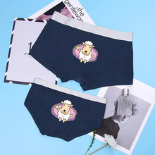 Modal Couple Underwear 12 Constellation PrintingBreathable Seamless Panties Women Mens boxer Sexy Wide Side