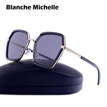 Blanche Michelle Brand Square Sunglasses Women Polarized UV400 oculos Mirror Sun Glasses For Female gafas de sol mujer With Box
