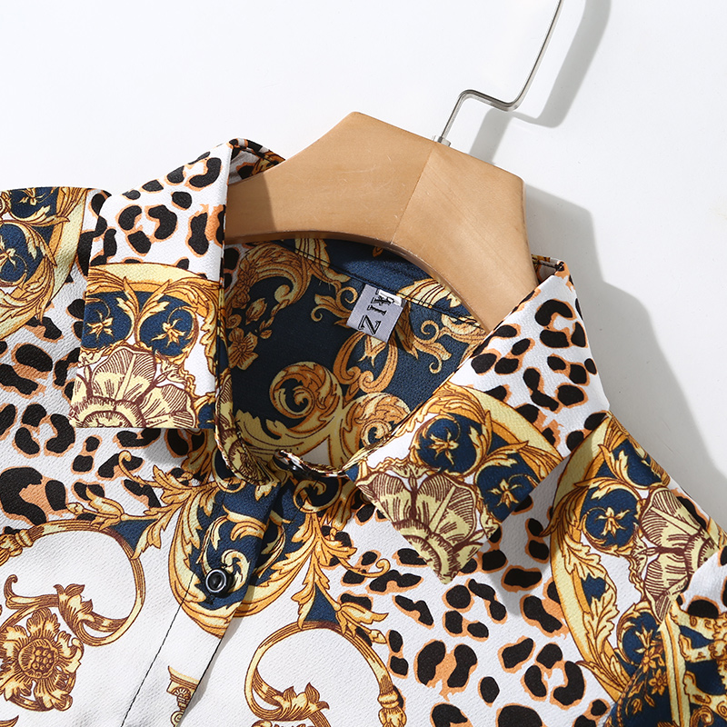 New Fashion 2019 Spring Women Blouses Long Sleeve Elegant Leopard Print Office Shirt Sexy Casual Blusas Femininas Womens Tops 6