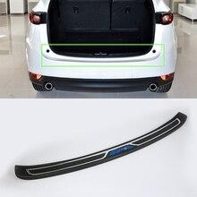 цена на Plastic rear bumper foot plate For  VW TIGUAN 2017 car accessories outer