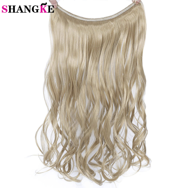 Shangke 24 60cm Long Wavy Invisible String Flip On No Clip In Hair