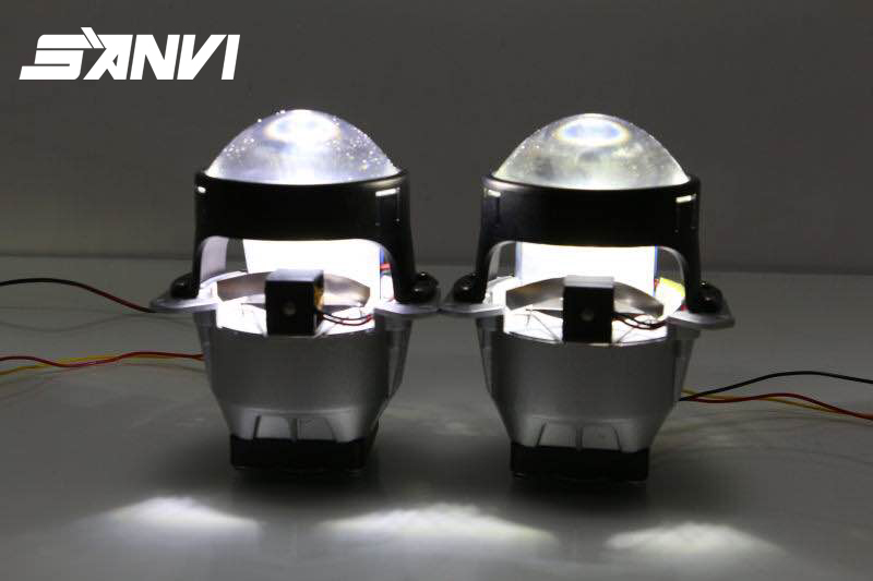 2017 Guangzhou Autolamp SANVI Bi-LED Projector Lens LED Headlight Hi Lo Beam Car-styling 45W 5500K LED Projector Lens Light led projector lens headlight with ballast 35w 5500k 3 inch projector lens led car