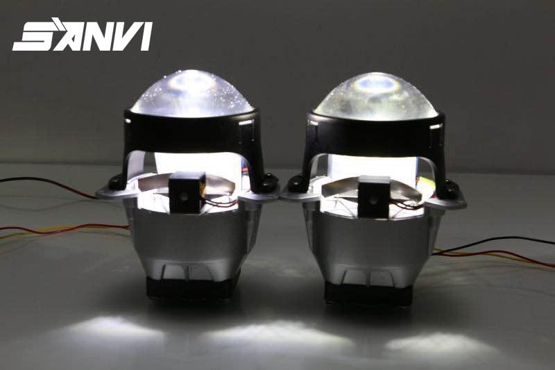2017 Guangzhou Autolamp SANVI Bi-LED Projector Lens LED Headlight Hi Lo Beam Car-styling 45W 5500K LED Projector Lens Light