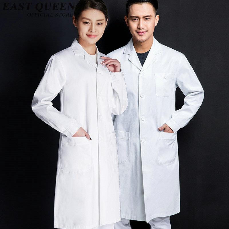 Work wear uniforms women men black white lab coat medical clothing ...