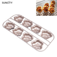 8 Holes Nonstick Cat Paw Shape Cake Mold 3D Min DIY Cupcake Jelly Pudding Muffin Cookie