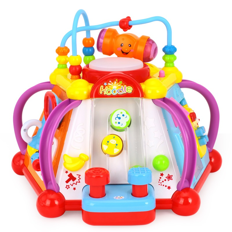 baby toy musical activity cube play center with lights 15 functions skills learning. Black Bedroom Furniture Sets. Home Design Ideas