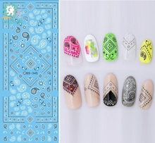 Rocooart DS345 Water Transfer Nails Art Sticker Harajuku Elements Indian Style Figures Nail Wraps Sticker Manicura Decal