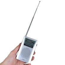 Мини портативный Радиоприемник R60 с двухдиапазонным FM/AM радио карманное радио со встроенным динамиком высокое качество