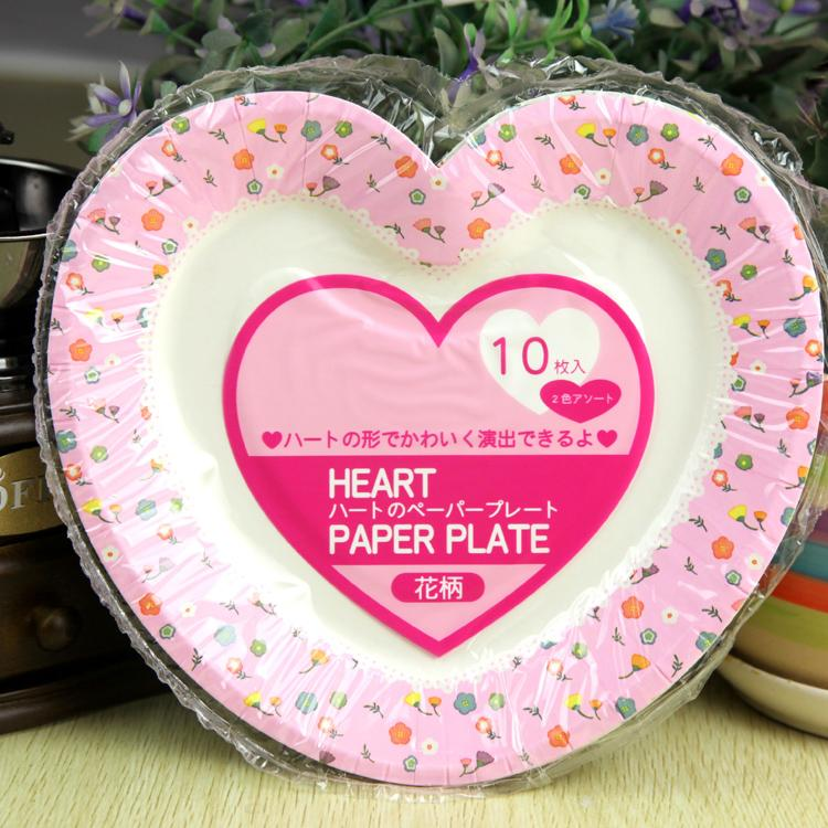 30pcs Heart Pink Cake Disposable Paper Plate For Wedding Fruit Dish Plates Event \u0026 Party Supplies 7inch-in Disposable Party Tableware from Home \u0026 Garden on ... & 30pcs Heart Pink Cake Disposable Paper Plate For Wedding Fruit Dish ...